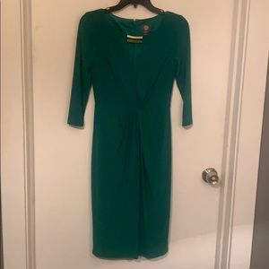 Emerald green Vince Camuto 3/4 length sleeve dress